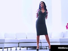 canadian babe nikki benz is tongued by lesbo phoenix marie!