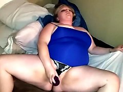 My sexy wife playing with her fat pussy.
