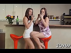 Teen women go mad with excitement
