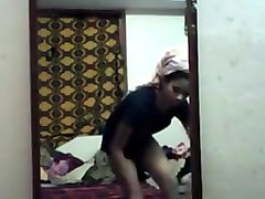Desi Girl Pinku Record Her Dress Change After Bath For Bf