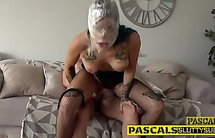 Ho gets gagged with cock