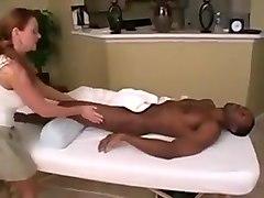 Horny Handjobs, Interracial sex video