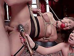 Master anal fucks slaves at upper floor