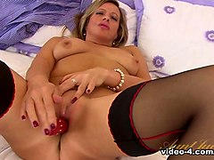 Hottest pornstar Louise Pearce in Amazing Stockings, MILF xxx movie