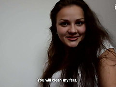bratty young girl foot worship - pov - czechsoles.com teaser