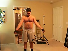 Don Stone Working Out Chest & Back P90x 6 (Week 3)