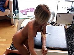 Skinny German Amateur Teen made to Slave and Anal Plug Fuck
