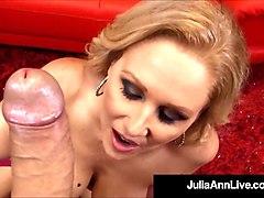 lusty love making queen julia ann strokes & sucks your cock!