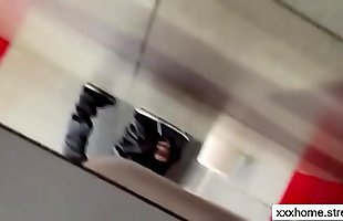Young French Girl Fucked in college bathroom