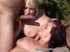 german groupsex orgy in the mountains