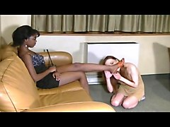 Worshiping ebony goddess feet