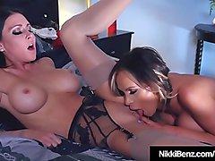 Busty Lesbians Nikki Benz &_ Jessica Jaymes Eat That Pussy!