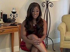 Ebony spanked