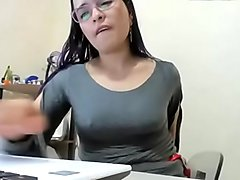 Sexy Columbiana Office Girl Masturbates in the office, Anal and vag squirts.  6-5-2019