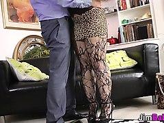 stockings, mouthful, euro, mouth, jizz
