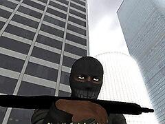 Ransom Starin' Through Rearview(Orgasmic Second Life SL Sex)