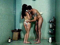 beautiful tattooed babe lacey channing gives her head in the shower before the best ever nuru massage