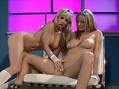 Incredible pornstars Anita Dark and Angie Savage in horny blonde, dildos/toys sex movie