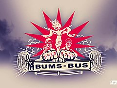 BUMS BUS - Petite German blondie Vinna Reed rides hard cock in the backseat of the bus