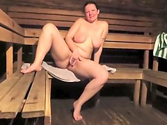 Fingering In The Hot Sauna