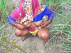Indian Desi Girl Friend in Open Feilds khet Village Outdoor Sex Sex In Jungal