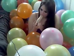 Glitch Matrix Sucks And Fucks In A Pile Of 300 Balloons
