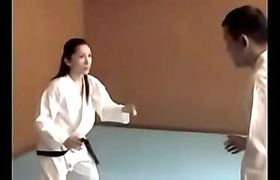 Japanese female judo coach get fucked by lewd male trainee in training - ReMilf.com