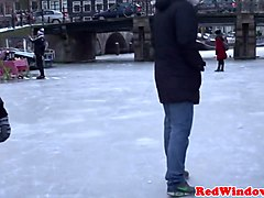amsterdam tourist rims real hooker on camera