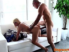pussyfucked beauty humiliated by stranger
