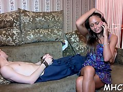 honey cuckolds her boyfriend and makes him see her fucking