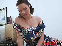 mature stepmom pounded hard in pov style by stepson