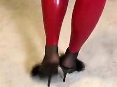 red latex leginggs