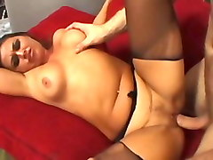 Crazy pornstar Simone Riley in amazing big butt, stockings porn video
