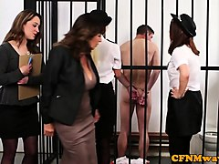 cfnm lawyer milf tastes prisoners warm jizz
