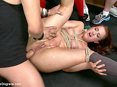 Too Swoll To Control: Cheyenne Jewel Brought To Her Knees - PublicDisgrace
