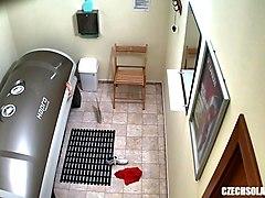 voyeur hidden cam in public solarium