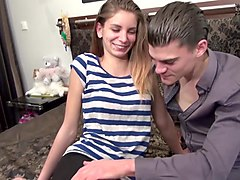 LA NOVICE - Sultry brunette Romanian amateur Isabella takes deep hot anal pounding