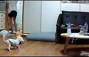韩国大胸美女,针孔摄像头真实偷拍