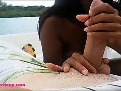 asian heather deep outdoor deepthroating throatpie swallow