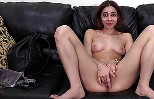 Petite babe Alexandra ass fucked and facial casting