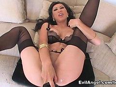 Horny pornstar Tia Ling in Amazing Blowjob, Stockings sex movie