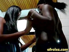 Lesbian action with busty Ebonies