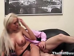 Milf boss fucked and facialized in her office