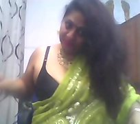 Indian Aunty anal dildo teasing on cam