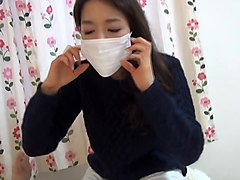 japanese surgical mask with pretty nice hand