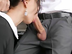 horny young secretary fucks in anal, pussy & mouth with her office boss