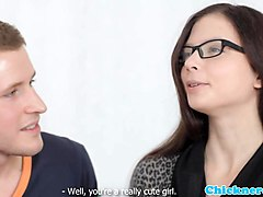 Spex amateur pussyfucked after making out