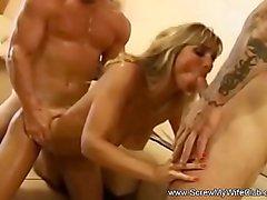 Swinger Wife Two Cocks