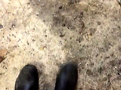 wellington boots and jeans