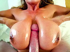 unforgettable titjob and blowjob by ample breasted bitch kianna dior